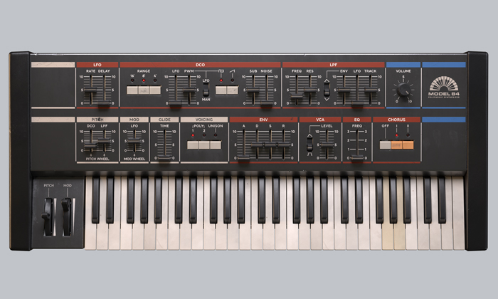 クリックしてModel 84 Polyphonic Synthesizerを表示