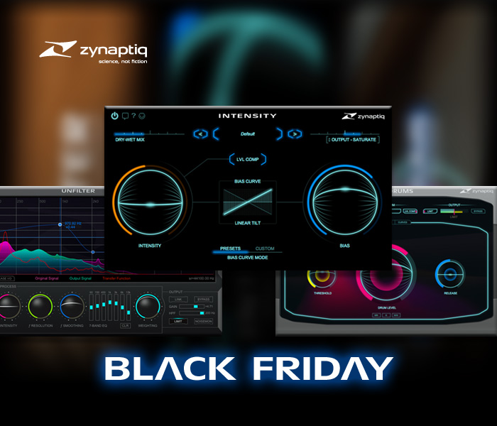 INTENSITY、UNFILTER、UNMIX::DRUMSをBlack Fridayプライスで購入